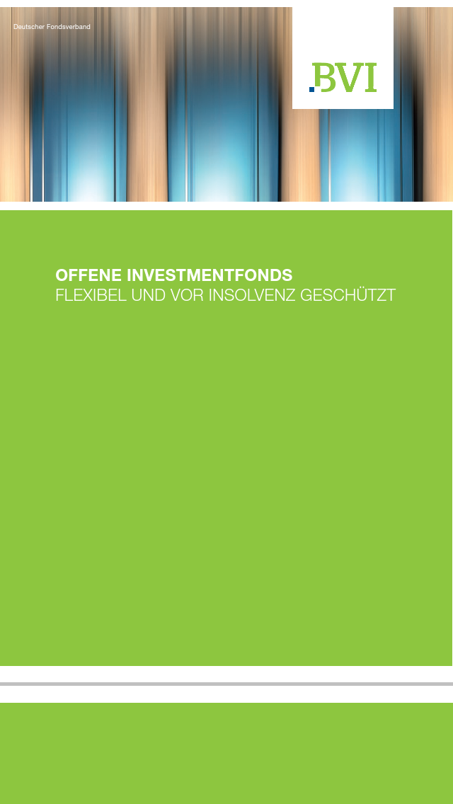 BVI Prospekt offene Investmentfonds